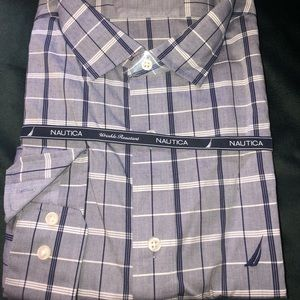 Nautica men's button up long sleeve shirt